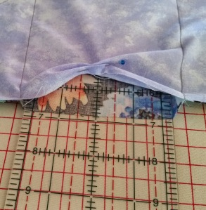 Slide ruler inside fabric