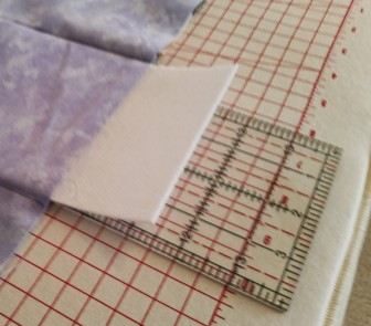 Slide Peltex along ruler